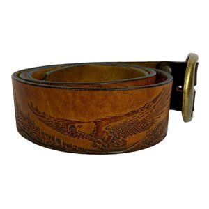 Genuine Leather Belt Handcrafted Eagle Mountain 36